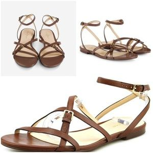 "Cole Haan ""Jensen"" Strappy Flat Leather Sandal"